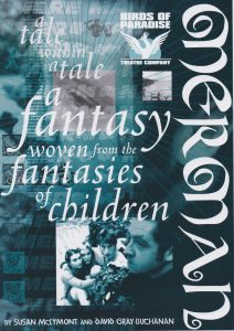 A poster for 'Merman'. In a large curly font it says 'A tale within a tale woven from the fantasies of children.'