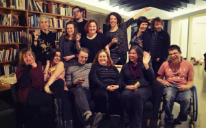 Image of lots of all the people who are taking part in the Touring Network's residency programme. Robert, from Birds of Paradise, is present, as is Heather, who BOP are supporting through this initiative.