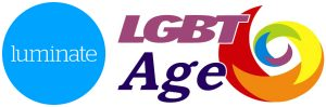 The logos for Luminate & LGBT Age